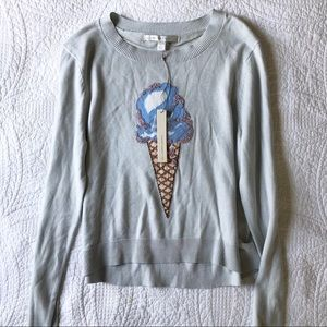 LC Lauren Conrad Beaded Ice Cream Cone Sweater